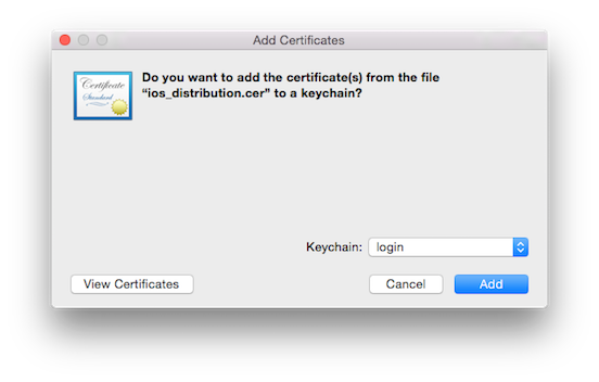 How to make a p12 file: Installing the certificate
