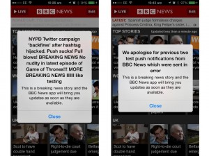 BBC push messages