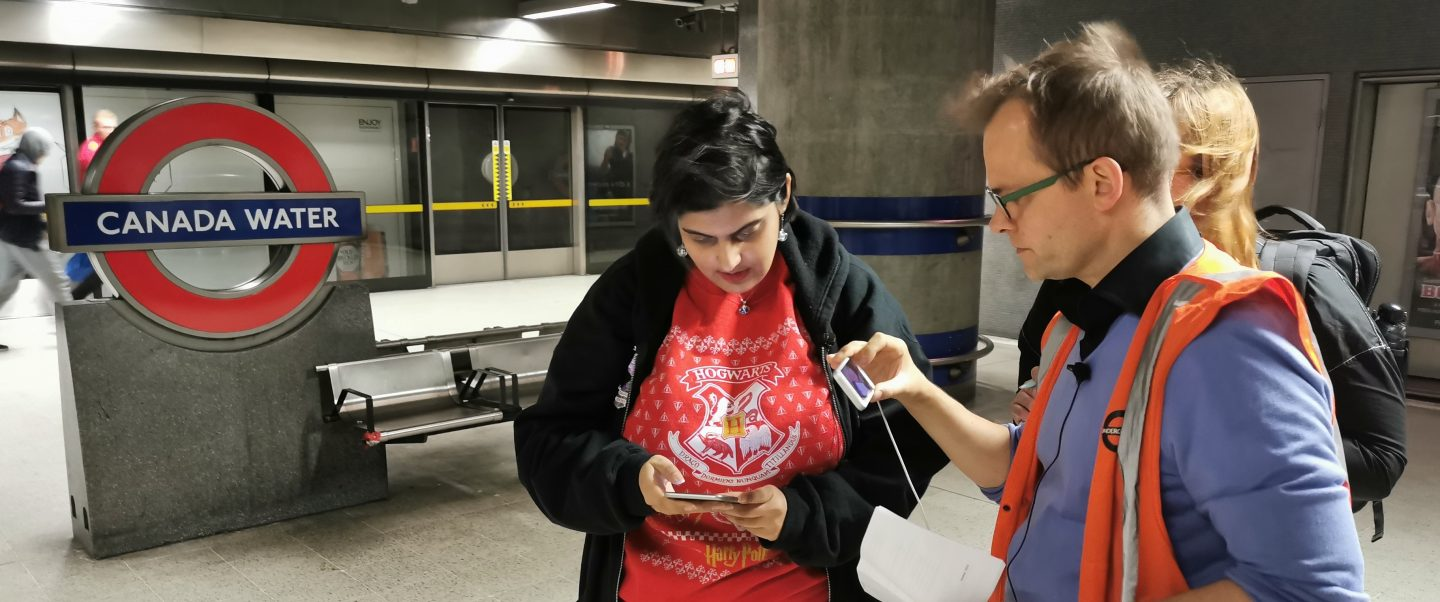 User using NavSta in Canada Waters Station