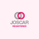 JOSCAR logo on pink background