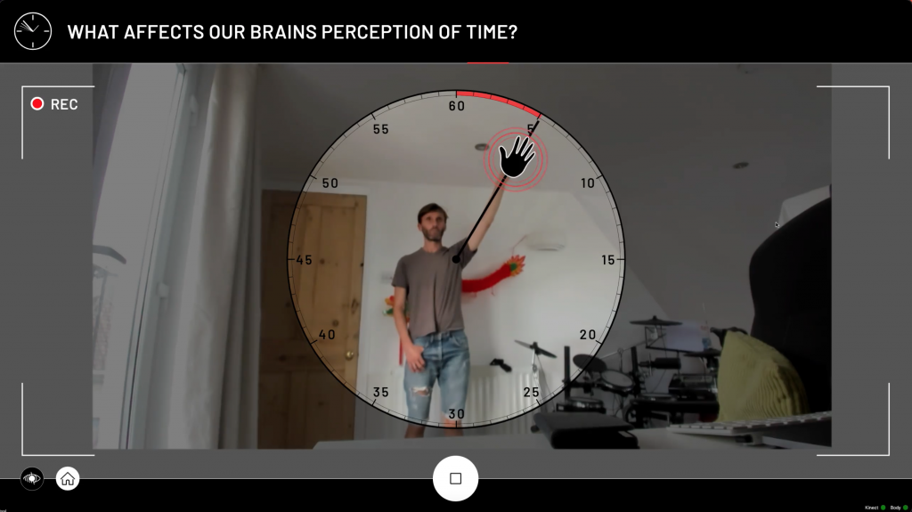 Human Clock - running in our Technical Director's home office