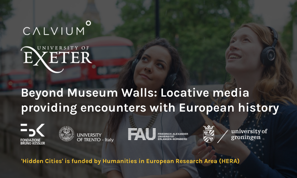 First slide from Jo Morrison and Fabrizio Nevola's MuseWeb 2021 presentation: Beyond Museum Walls: Locative media providing encounters with European history