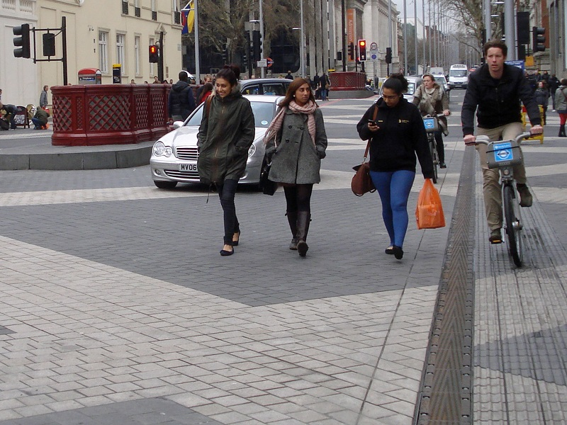 Shared space on London's Exhibition Road