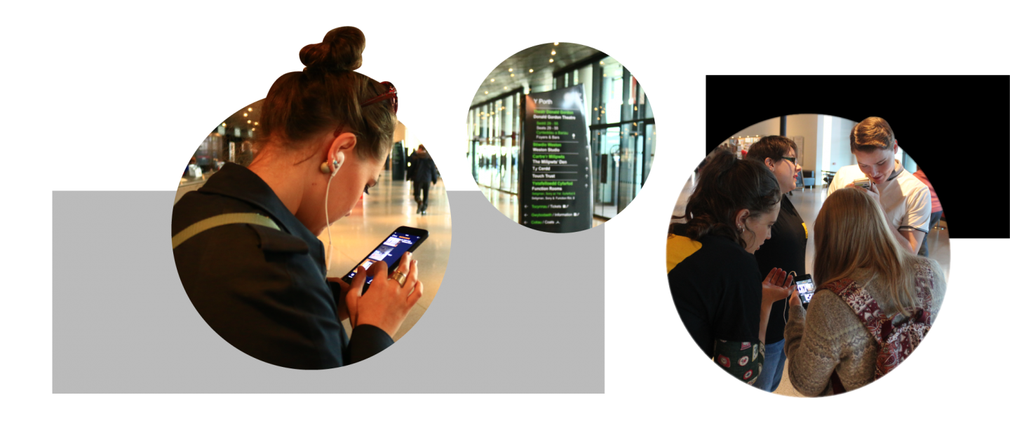 a trio of images show the ucan go app being used among audiences in the places it was designed for
