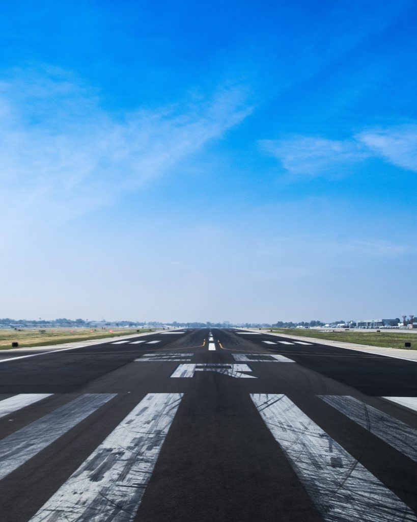 Image of an airport runway to highlight how innovation workshops have helped digital transformation in the aerospace sector