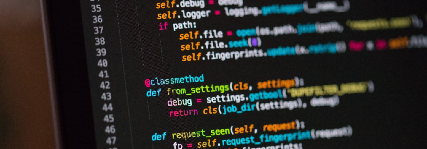 Image of a screen close up showing Python code