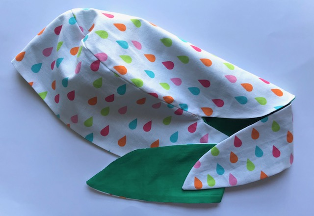 Individual scrub cap that has been made to support healthcare workers